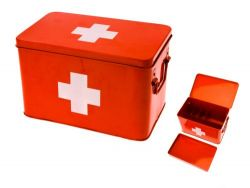 Medicine Storage Box Large | Red