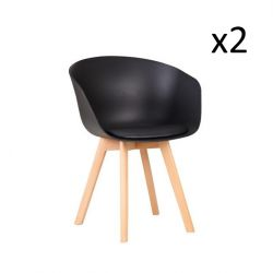 Chairs Aries Set of 2 | Black