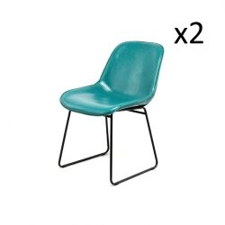 Chaise Doris Set de 2 | Bleu / Pétrole