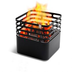 Black Fire Basket | Cube