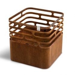 Rust Fire Basket | Cube