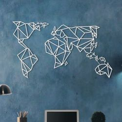 Wall Deco World Map | White