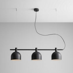 Hanging Lamp Mecha | Triple Black