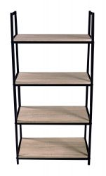 Bookcase Pictor 4 Shelves | Black, Wood
