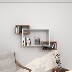Shelf Davis | White & Wengé