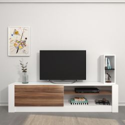 TV-Stand Gomez | Weiß & Holz