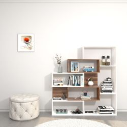 Bookcase Era | White & Wood