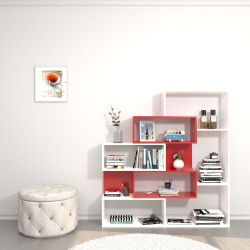 Bookcase Era | White & Red