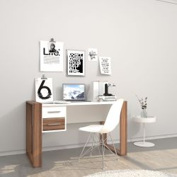 Desk Farley | White & Wood