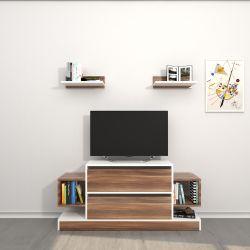 TV-Ständer Mauritius | Weiß & Holz