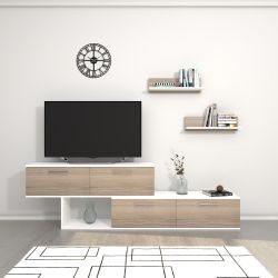TV-Ständer Antipodi | Weiß & Cordoba