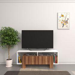 TV-Ständer Melville | Weiß & Holz