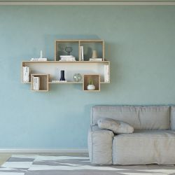 Shelf Alfa | Brown + White