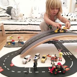 Rubber Toy Road | 40 pcs | King of the Road