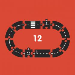 Rubberen Autobaan 12-delig | Ringroad