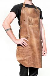 Leather Luxury Apron Baltimore | Saddle Brown