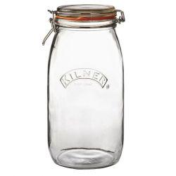 Runder Glas-Clip-Top-Tiegel -3 L