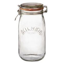 Runder Glas-Clip-Top-Dose -1,5 L