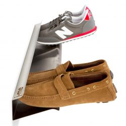 Horizontal Shoe Rack | Silver