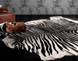 Horsy Leather Carpet Zebra
