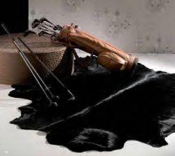 Horsy Leather Carpet Black