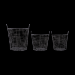 Wire Basket Set of 3 | Black