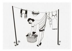 50s Housewives Teatowel Peggy