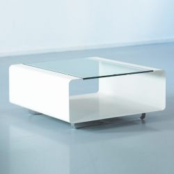 Table Basse Hover | Verre Transparent