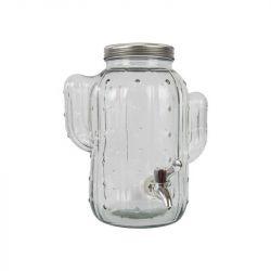 Glazen Tap | Transparant / Zilver Metaal