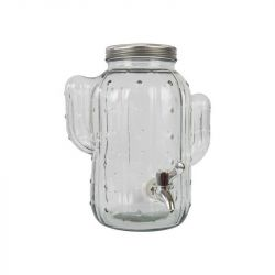 Glasspender | Klar / Silber Metall