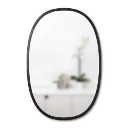 Miroir Oval Hub | Noir