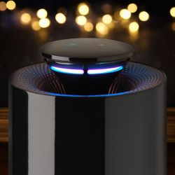 HUGO 3-in-1 Air Purifier + Air Streilizer + Mosquito & Insect Catcher   Black
