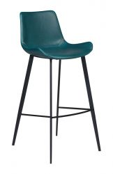 Discontinued Bar Stool Hype Vintage Artificial Leather | Blue