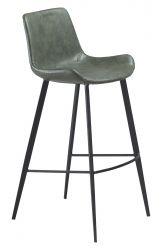 Bar Stool Hype Vintage Artificial Leather | Green