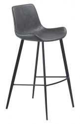 Bar Stool Hype Vintage Artificial Leather | Grey