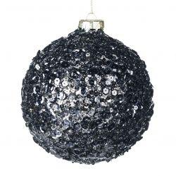 Weihnachtskugel Glas 10 cm | Schwarz