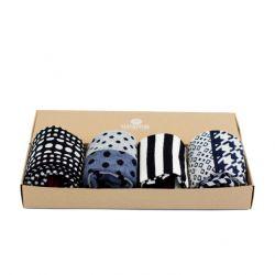 Socken Elegant Schwarz und Blau Geschenkbox