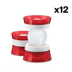 12-er Set mit 2 Eisballformen | Rot