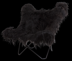 Icelandic Skin Butterfly Chair | Black