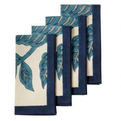 Set of 4 Napkin 45 cm | Elderflower Topaz
