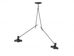 Ceiling Lamp Arigato Long Double l Black