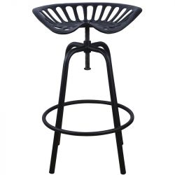 Bar Stool Tractor | Black