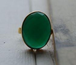 Groene Ovale Onyx Ring