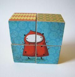 Houten Blokken Puzzle-Bee