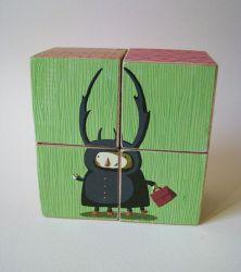 Houten Blokken Puzzle-Bug