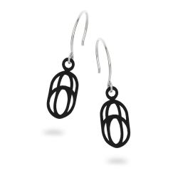 Balanced Earrings Oval | Black