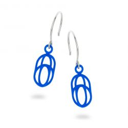 Balanced Earrings Oval | Blue