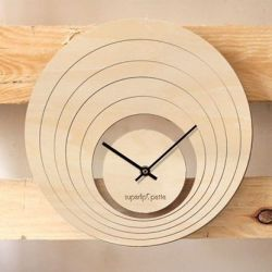 Petite Illusion Clock | Natural