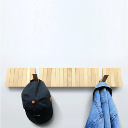 Wall-Mounted Coat Rack Switchboard | Natural