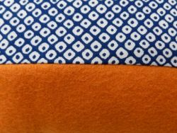 Esperanza cushion blue spot/orange